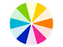 tertiary colors on a color wheel