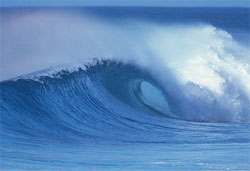 big blue waves