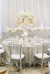 elegant and festive dinner table