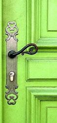 door with antique hook