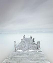 the pier in white mist